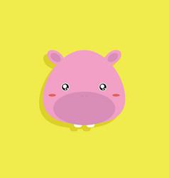 cartoon pig face vector image