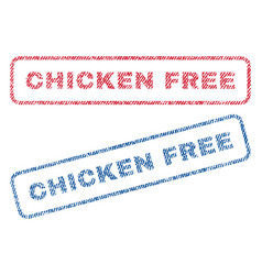 chicken free textile stamps vector image vector image