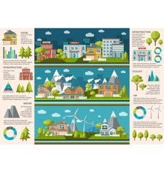 City Life Infographics vector image