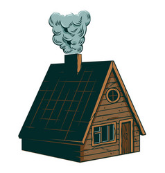 Classic vintage camping wooden villa cottage vector