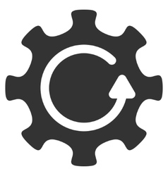 Cog Rotation Direction Flat Icon vector