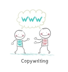 Copywriter says with a customer vector