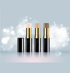 cosmetic product foundation make up vector image