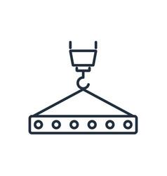 crane hook with floor slab icon symbols vector image