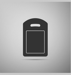 cutting board icon isolated on grey background vector image