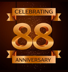 eighty eight years anniversary celebration design vector image