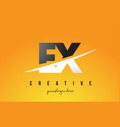 Ex e x letter modern logo design with yellow vector