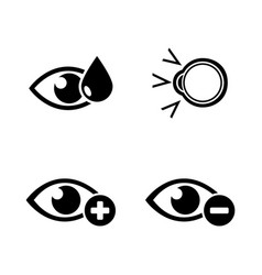 eye treatment simple related icons vector image
