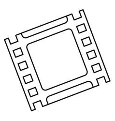 Film tape icon vector