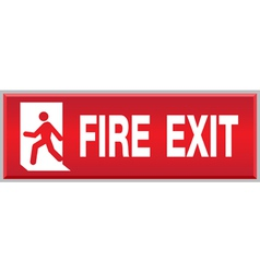 Fire Exit Sign vector