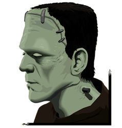 Frankenstein portrait vector