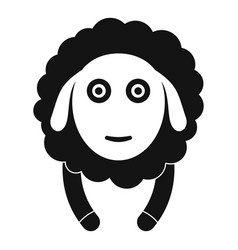 Front face sheep icon simple style vector