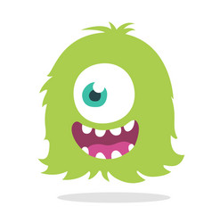 funny cartoon monster character vector image