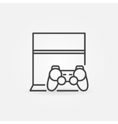 Game console with joystick icon vector