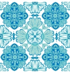 Gorgeous seamless patchwork pattern from dark blue vector