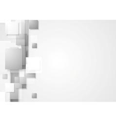Grey geometry hi-tech background vector image