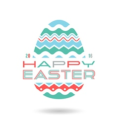 Happy easter egg emblem vector
