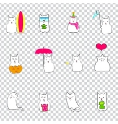 Japanese monthly events with cattransparent vector
