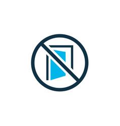 Keep door closed icon colored symbol premium vector