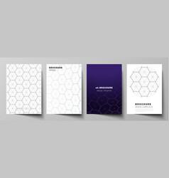 layout a4 format cover mockups design vector image