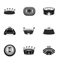 main stadium icons set simple style vector image