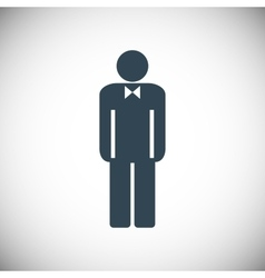 Man icon toilet sign vector