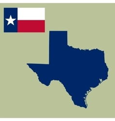 map us state texas with flag vector image