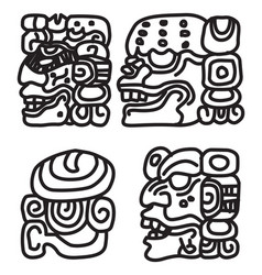 maya ornament vector image