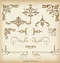 Ornamental dividers and ornaments vector