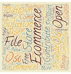 Os commerce text background wordcloud concept vector