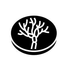 Penicillium mold fungi glyph icon vector
