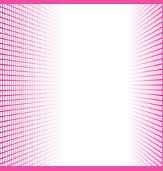 Perspective banner made pink squares tiles vector