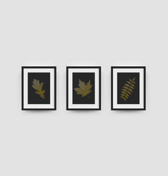 photo frames mockup wall pictures or posters vector image
