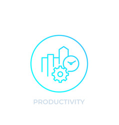 productivity icon linear style vector image