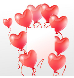 red balloons in shape a heart graphics vector image