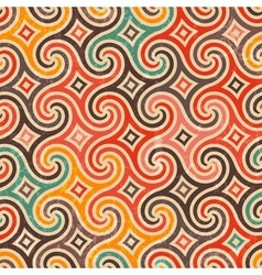 Retro pattern with swirls vector