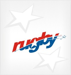 Rugby logo image symbol vector