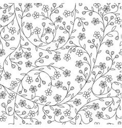 Seamless little daisy flower pattern vector