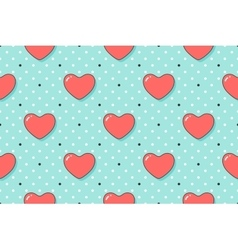 Seamless pattern with hearts and arrows on a vector