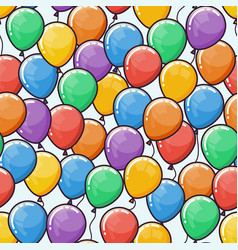 Seamless pattern with multicolored balloons vector
