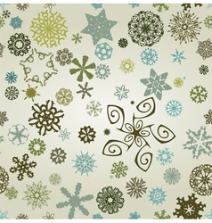 Seemless snowflakes background vector