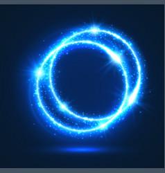 Sparkling rings light flash circles vector