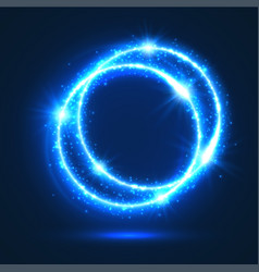 Sparkling rings of light flash circles vector