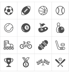 Sports trensy flat icons vector image