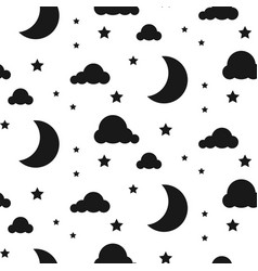 Starlight night seamless pattern vector