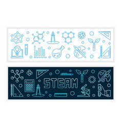 Steam concept modern banners in outline vector