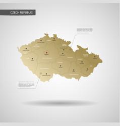 Stylized czech republic map vector