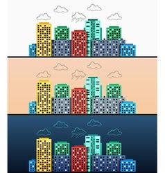 Stylized modern design urban panoramas at vector image