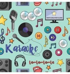 Theme of karaoke pattern vector