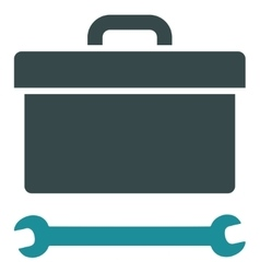 Toolbox Flat Icon vector image